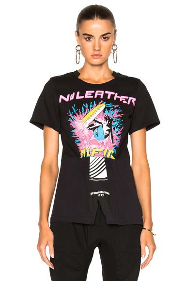 Jersey No Leather Surf Print T-Shirt