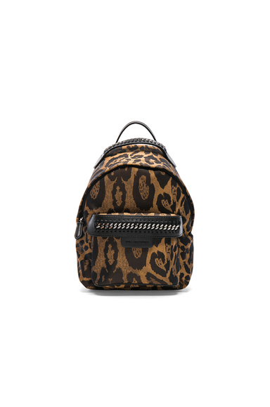 Falabella Go Alter Leopard Print Mini Backpack