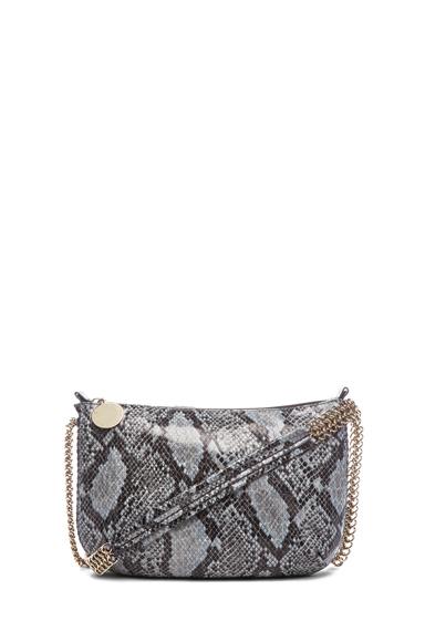 Matte Faux Python Crossbody Bag