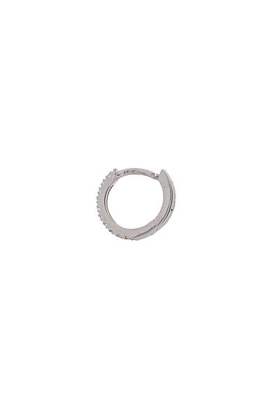 Tiny Hoop Paved Single Earring