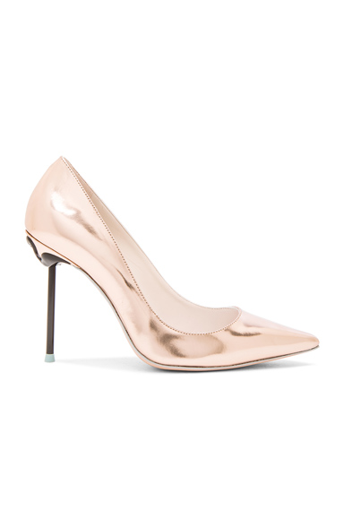 Coco Flamingo Leather Heels