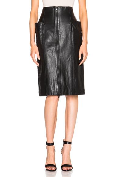 High Waist Leather Skirt