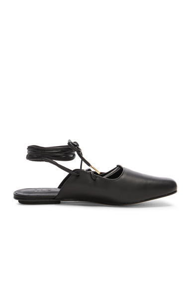 Leather Lila Slides