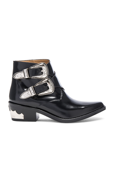 Polished Leather Booties