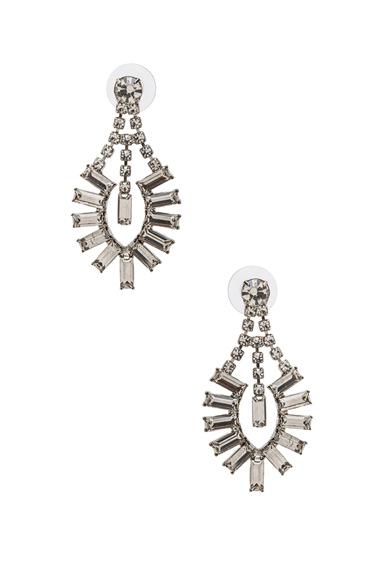 Medium Crystal Baguette Earrings