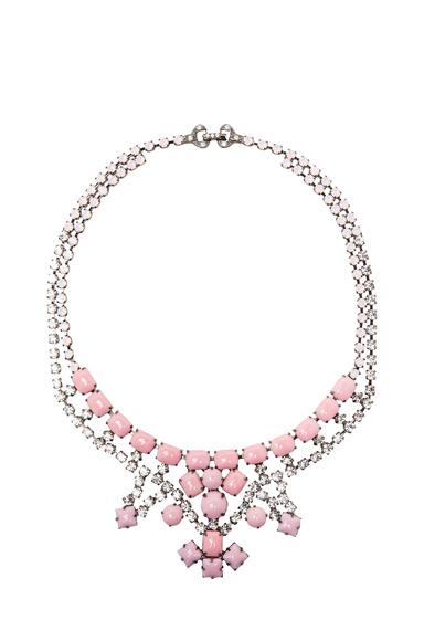 Medium 3 Point Crystal Necklace