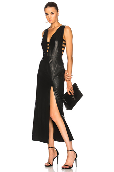 for FWRD Leather Cage Dress with Slit
