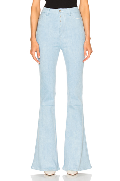 High Waist Flare Stretch Denim