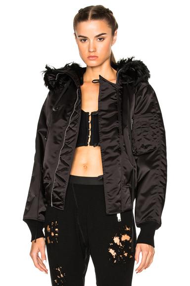 Bomber Fur Hooded Jacket