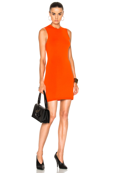 Compact Jersey Sleeveless Fitted Mini Dress