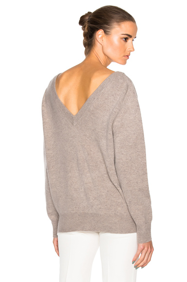 Felted Lambswool Double V Neck Jumper