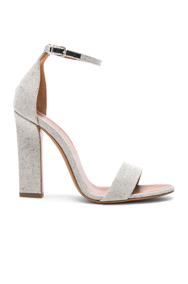 Canvas Anna Ankle Strap Heels