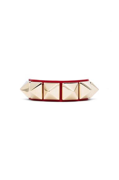 Medium Rockstud Calfskin Bracelet