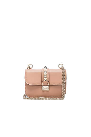 Small Lock Flap Bag in Soft Noisette