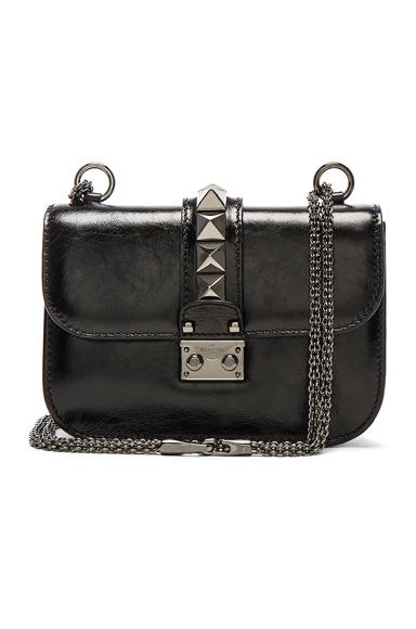 Noir Small Lock Shoulder Bag