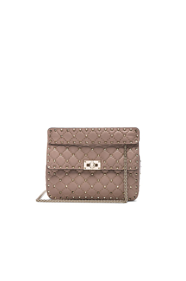 Quilted Rockstud Spike Medium Chain Bag