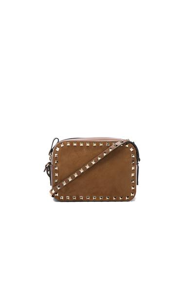 Rockstud Suede Crossbody Bag