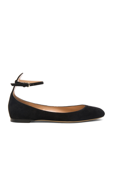 Suede Tango Leather Flats