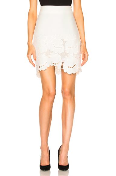 Delft Embroidered Hem Skirt