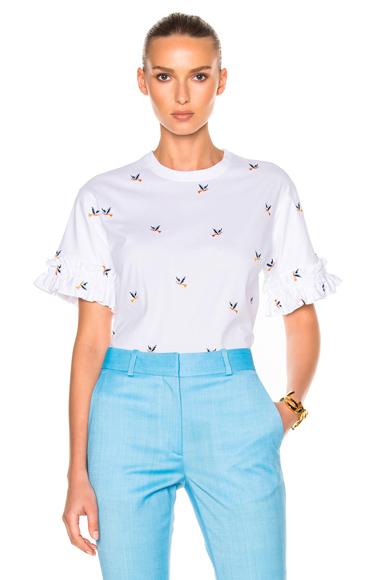 Ruffle Sleeve Tee Shirt