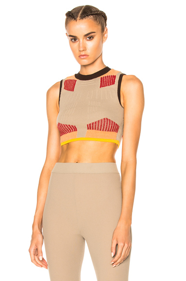 Sock Knit Graphic Crop Top