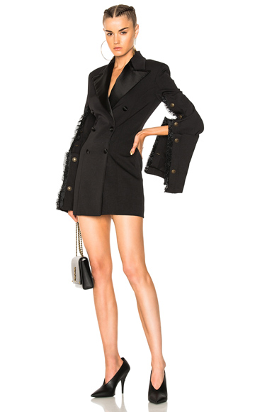 Fitted Suit Jacket Dress