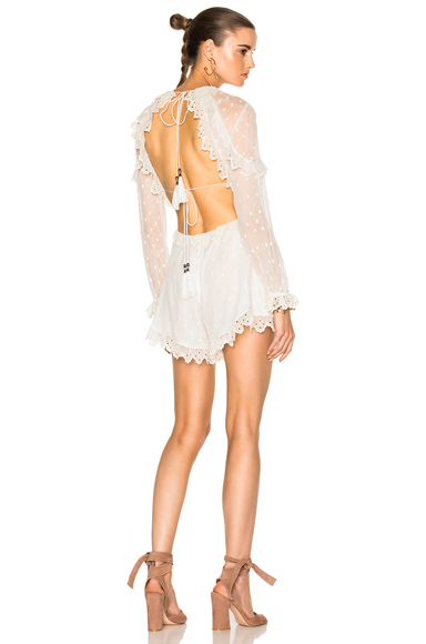 Divinity Scallop Ruffle Playsuit