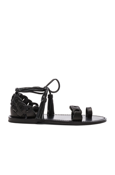 Leather Link Tie Sandals