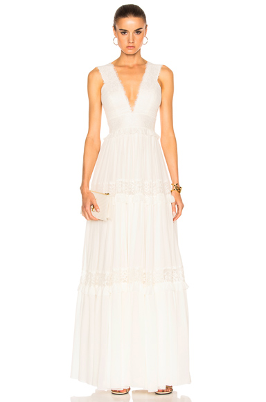 Georgette & Lace Gown